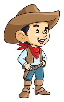 Vaquero, niño, caricatura