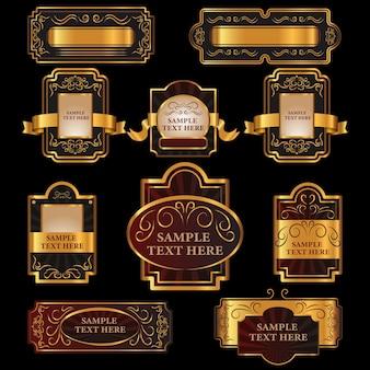 Varias etiquetas vintage