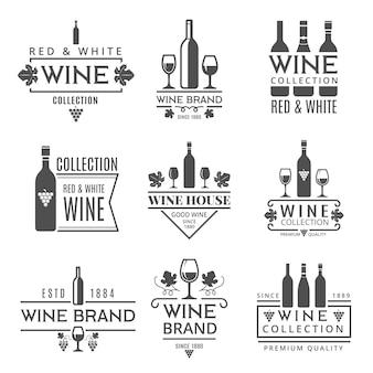 Varias marcas de vinos.