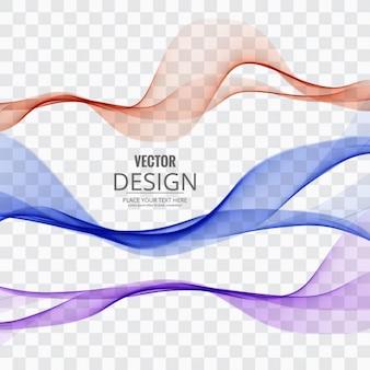 Varias ondas de colores