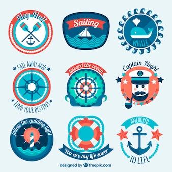 Varias pegatinas marineras adorables y divertidas
