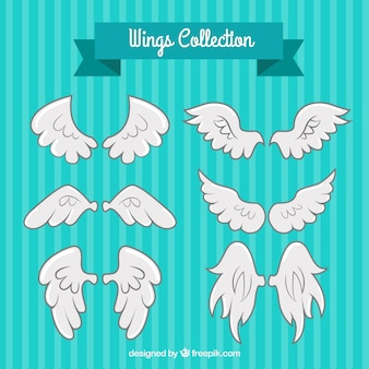 Variedad de alas blancas fantásticas