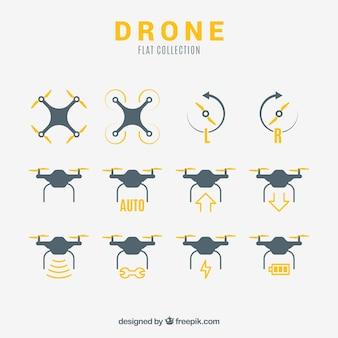 Variedad básica de drones planos
