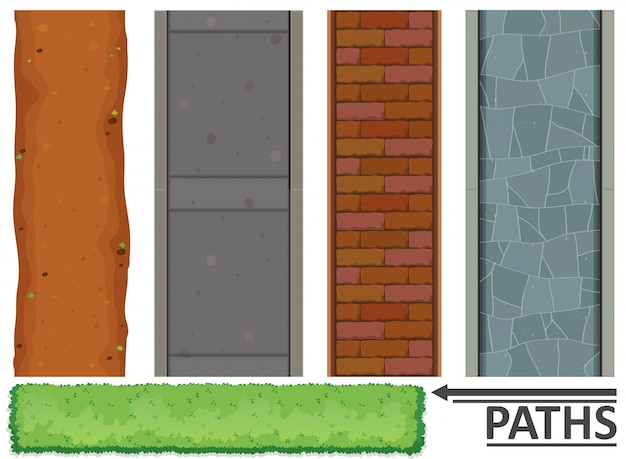 Variedad de caminos y texturas