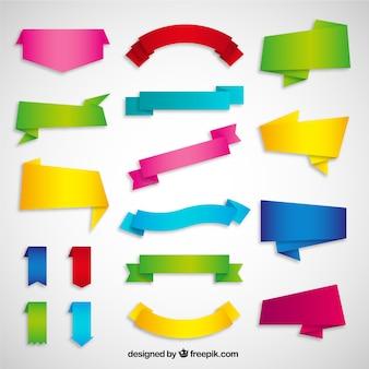 Variedad de cintas de origami