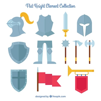 Variedad clásica de accesorios medievales