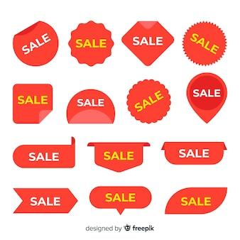 Variedad de colección de etiquetas de ventas.