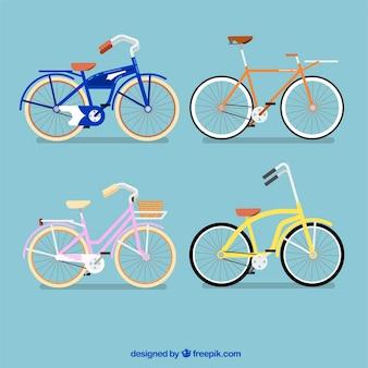 Variedad colorida de bicicletas