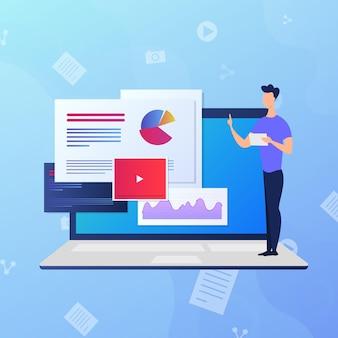 Variedad de cursos en línea con tutores.