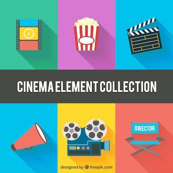 Variedad de elementos de cine planos