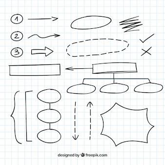 Variedad de elementos de diagramas