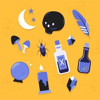 Variedad de elementos esotéricos.