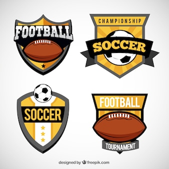 Variedad de escudos de fútbol