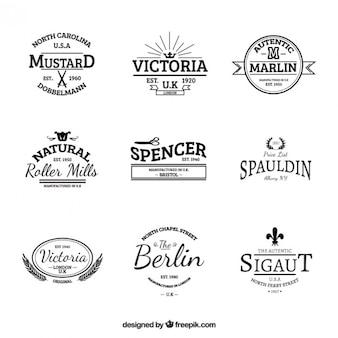 Variedad de etiquetas