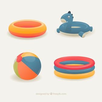 Variedad de flotadores