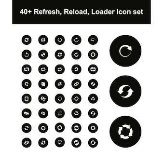 Variedad de iconos de carga