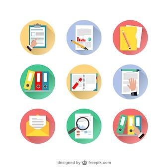 Variedad de iconos de documentos