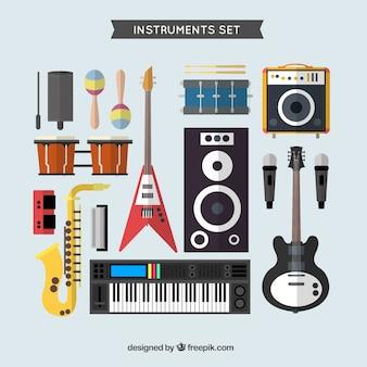 Variedad de instrumentos musicales