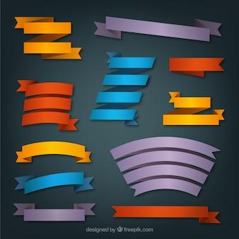 Variedad de lazos de colores