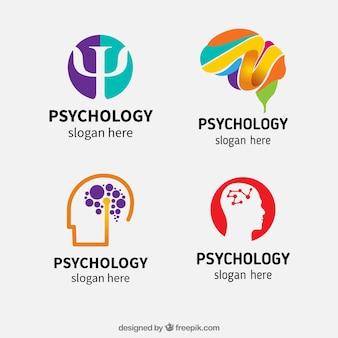 Variedad de logotipos de psicología abstractos