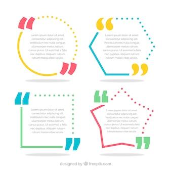 Variedad de marcos de colores para citas
