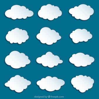 Variedad de nuves blancas