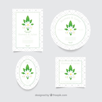 Variedad original de tarjetas bonitas con jazmín