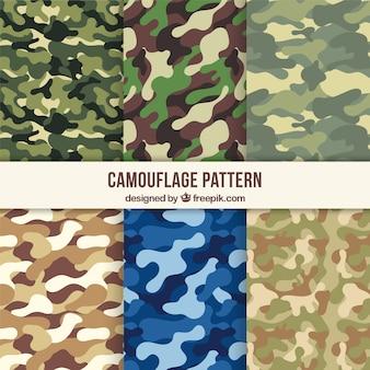 Variedad de patrones de camuflaje