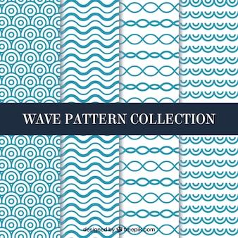 Variedad de patrones de ondas planas