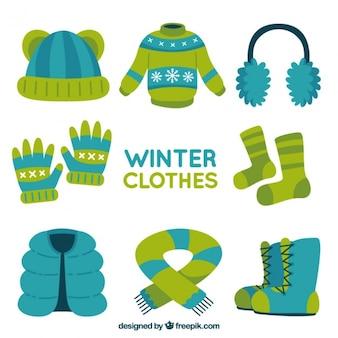 Variedad de ropa cómoda de invierno