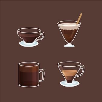 Variedad de tipos de café