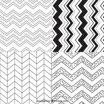 Variedad de zig zag patrones