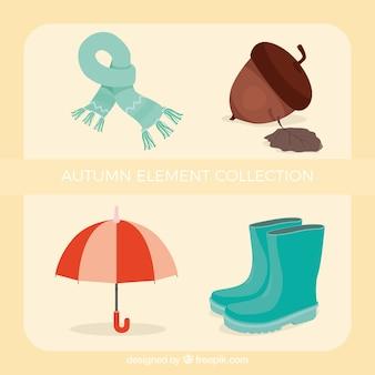 Varios accesorios de otoño