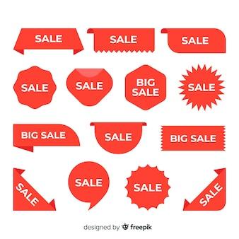 Varios diseños para la colección de etiquetas de ventas