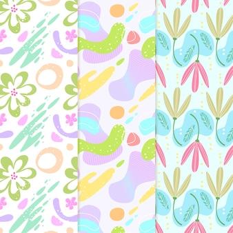 Varios diseños de colección de patrones abstractos dibujados a mano