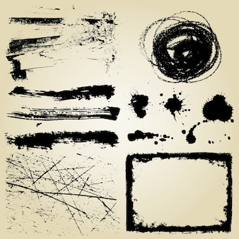 Varios elementos detallados grunge
