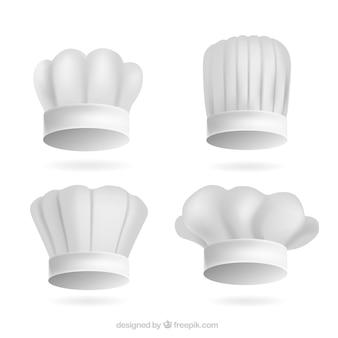 Varios gorros de chef realistas