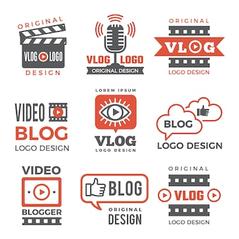 Varios logotipos para canales de televisión y vloggers.