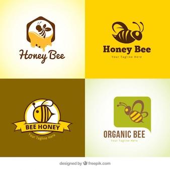 Varios logotipos de miel
