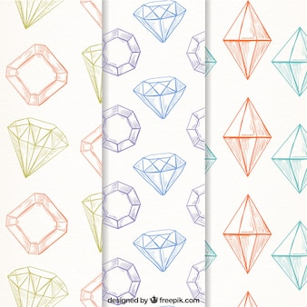 Varios patrones de diamantes en estilo vintage