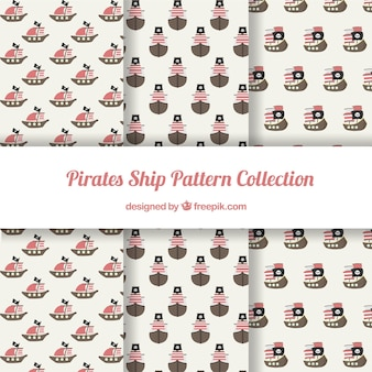 Varios patrones de elementos piratas