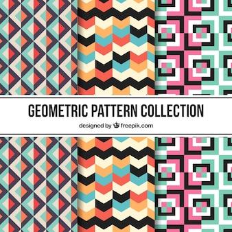 Varios patrones de formas abstractas de colores