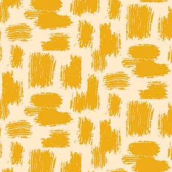 Varios patrones de trazos de pincel abstracto