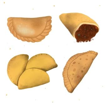 Varios tipos de colección de empanada