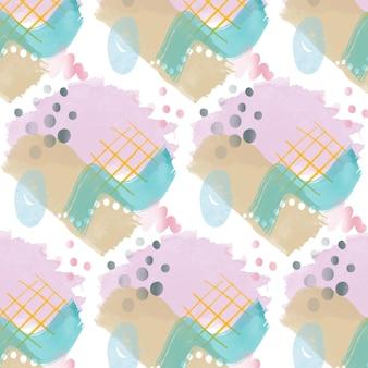 Varios trazos de pincel acuarela abstracta de patrones sin fisuras