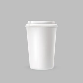 Vaso blanco de plástico
