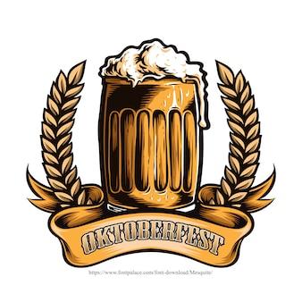 Vaso de cerveza oktoberfest