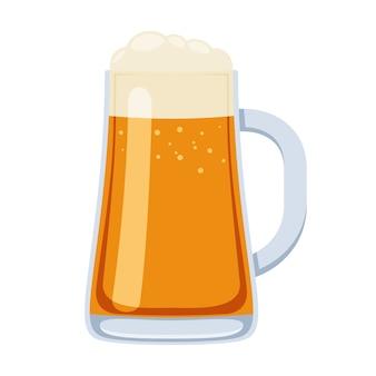 Vaso de jarra de cerveza en la ilustración de estilo de dibujos animados