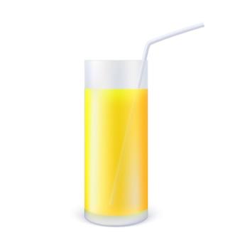 Vaso realista de jugo de cítricos