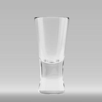 Vaso transparente vacio